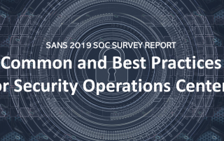 SANS SOC Survey 2019